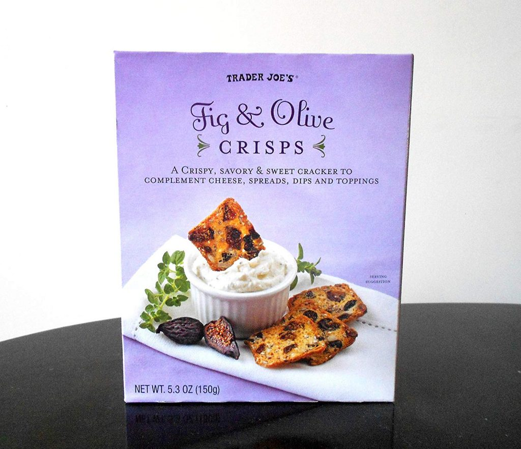 Best Trader Joe's low-sugar snacks: Fig & Olive Crisps