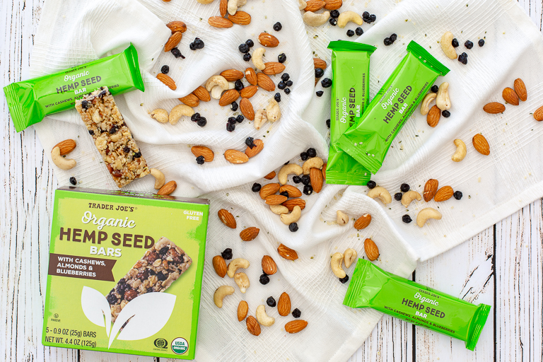 Best Trader Joe's low-sugar snacks: Organic Hemp Seed Bars