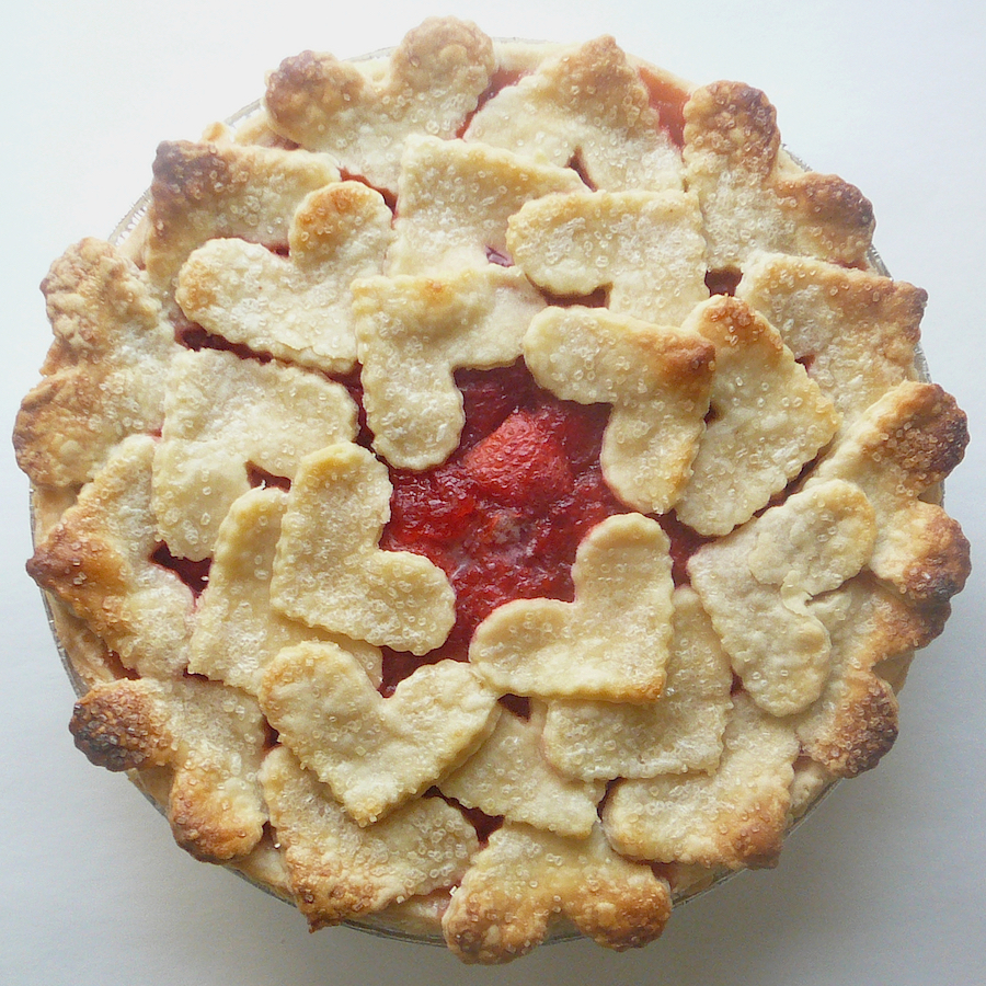 Romantic designer heart crust pies for Valentine's Day from Cutie Pies NYC
