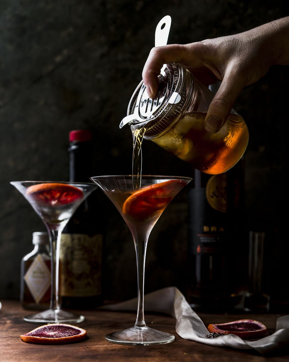 Romantic recipes for Valentine's Day dinner in: Brandy Manhattans at Recipe Fiction