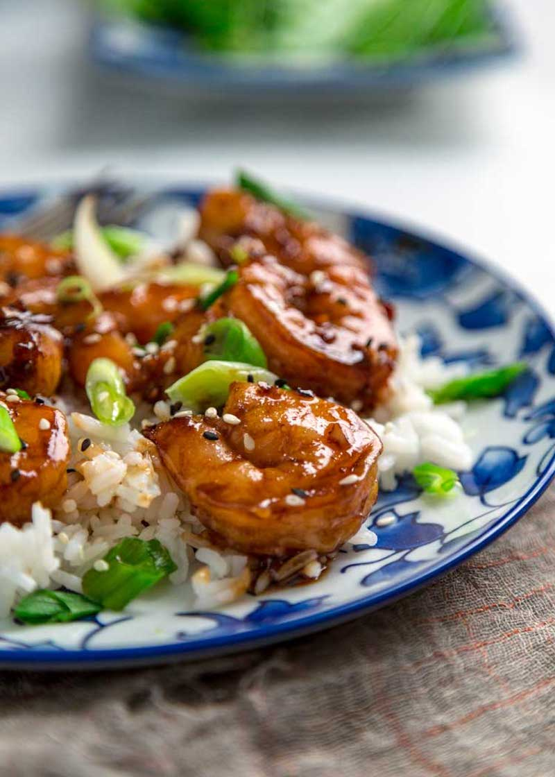 Weekly meal plan: Honey Garlic Shrimp at Kevin is Cooking