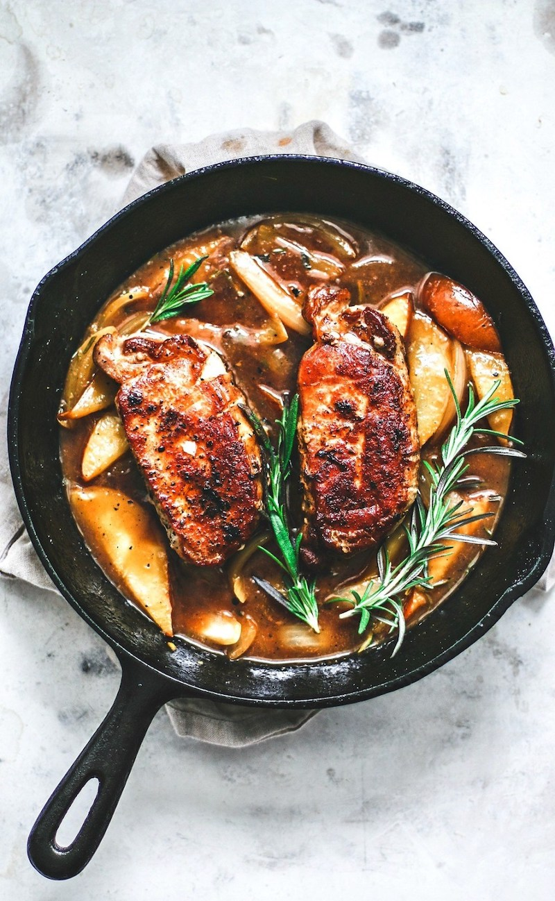 Weekly meal plan: Pear and Ginger Pork Chops at Killing Thyme