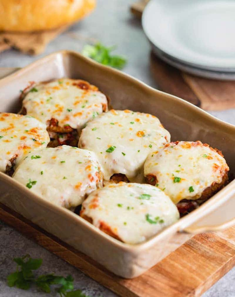 Weekly meal plan: Eggplant Parmesan at The Cozy Cook