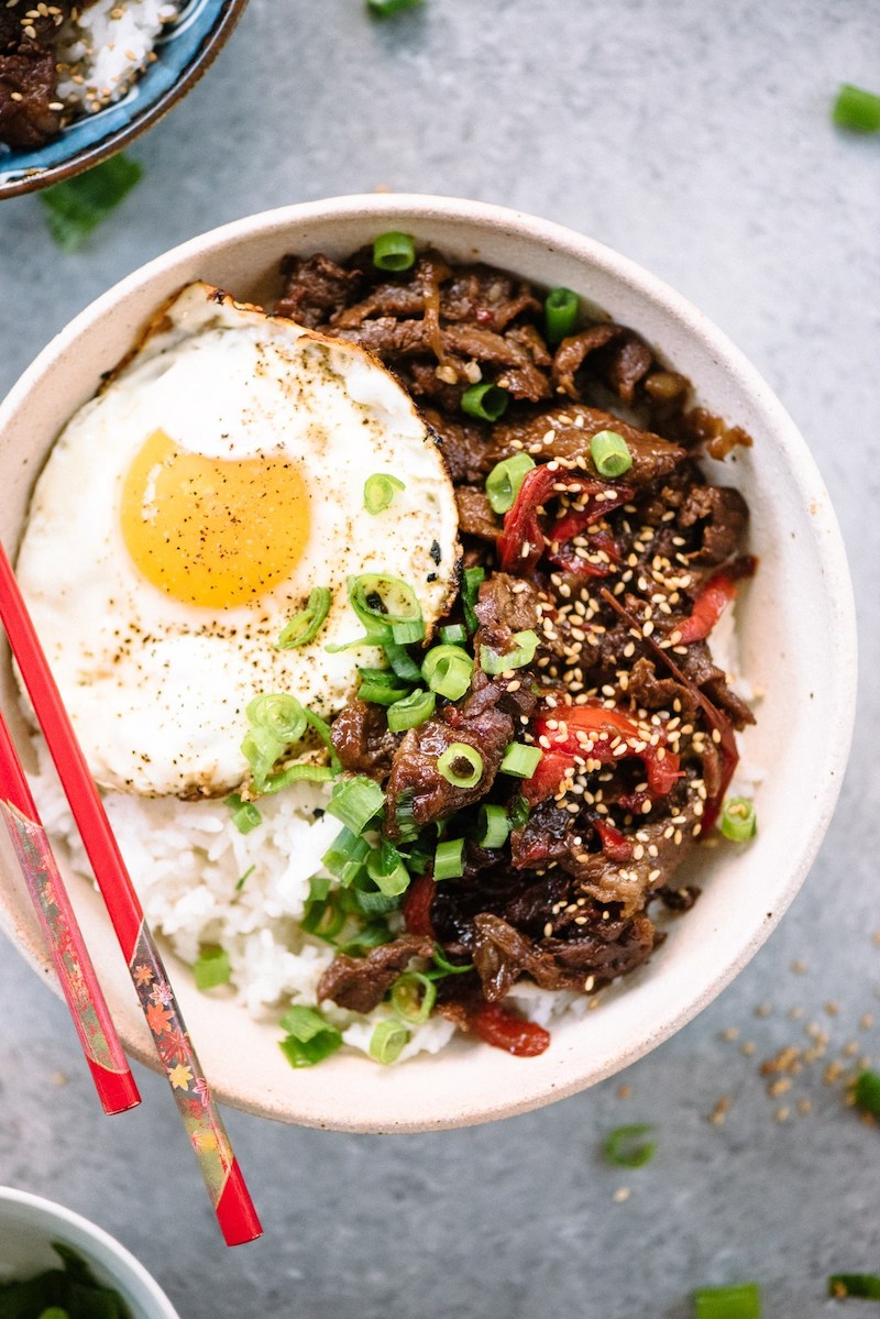 Weekly meal plan: Gyudon Beef Bowls at Apple of My Eye