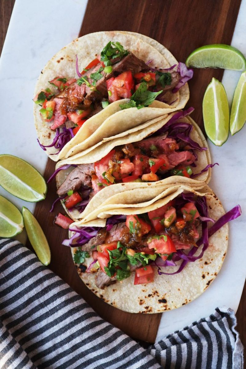 Weekly meal plan: Steak Tacos at Proportional Plate