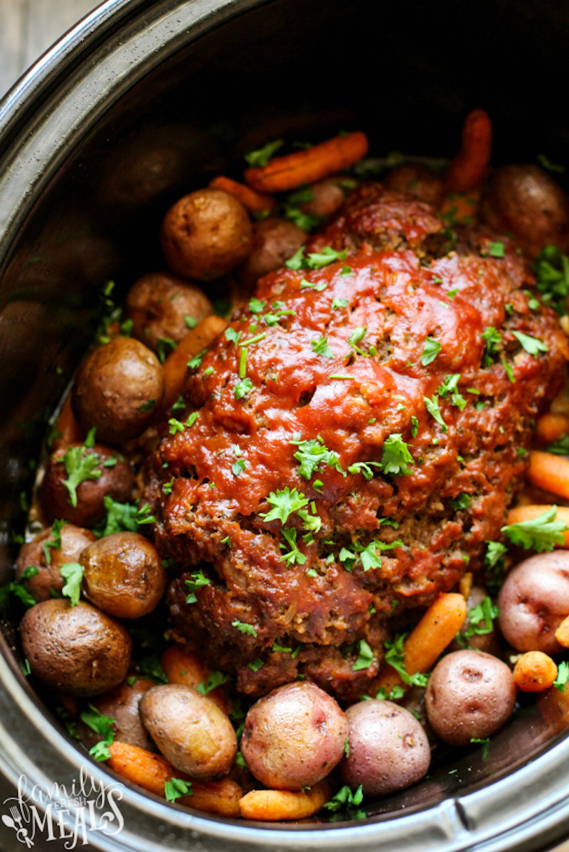 Weekly meal plan: Crockpot Meatloaf at Family Fresh Meals