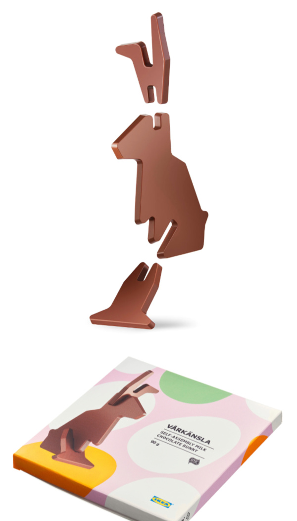 Easter basket ideas under $20: IKEA flat-pack chocolate bunny
