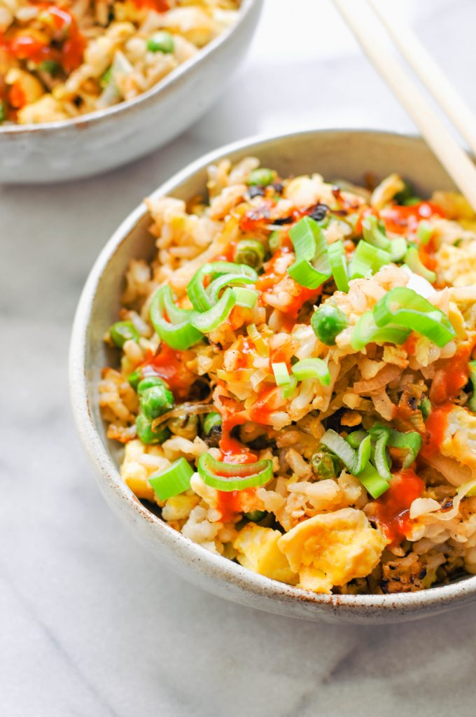 How to cook with leeks: Leek and Pea Fried Rice | This Healthy Table