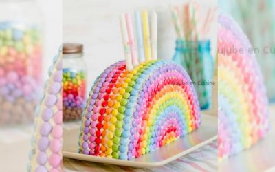 The one easy rainbow cake recipe that doesn't require you to be a master with a piping bag. Yes!