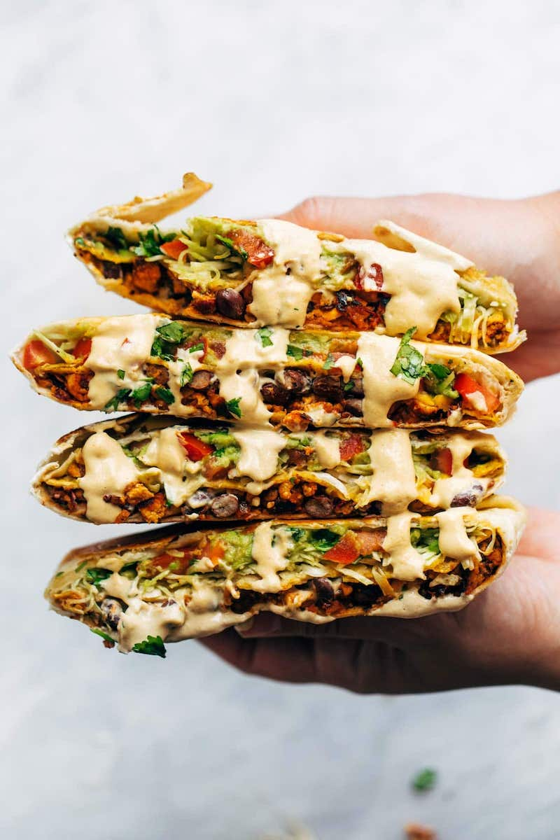 Weekly meal plan: Vegan Crunchwrap Supremes at Pinch of Yum