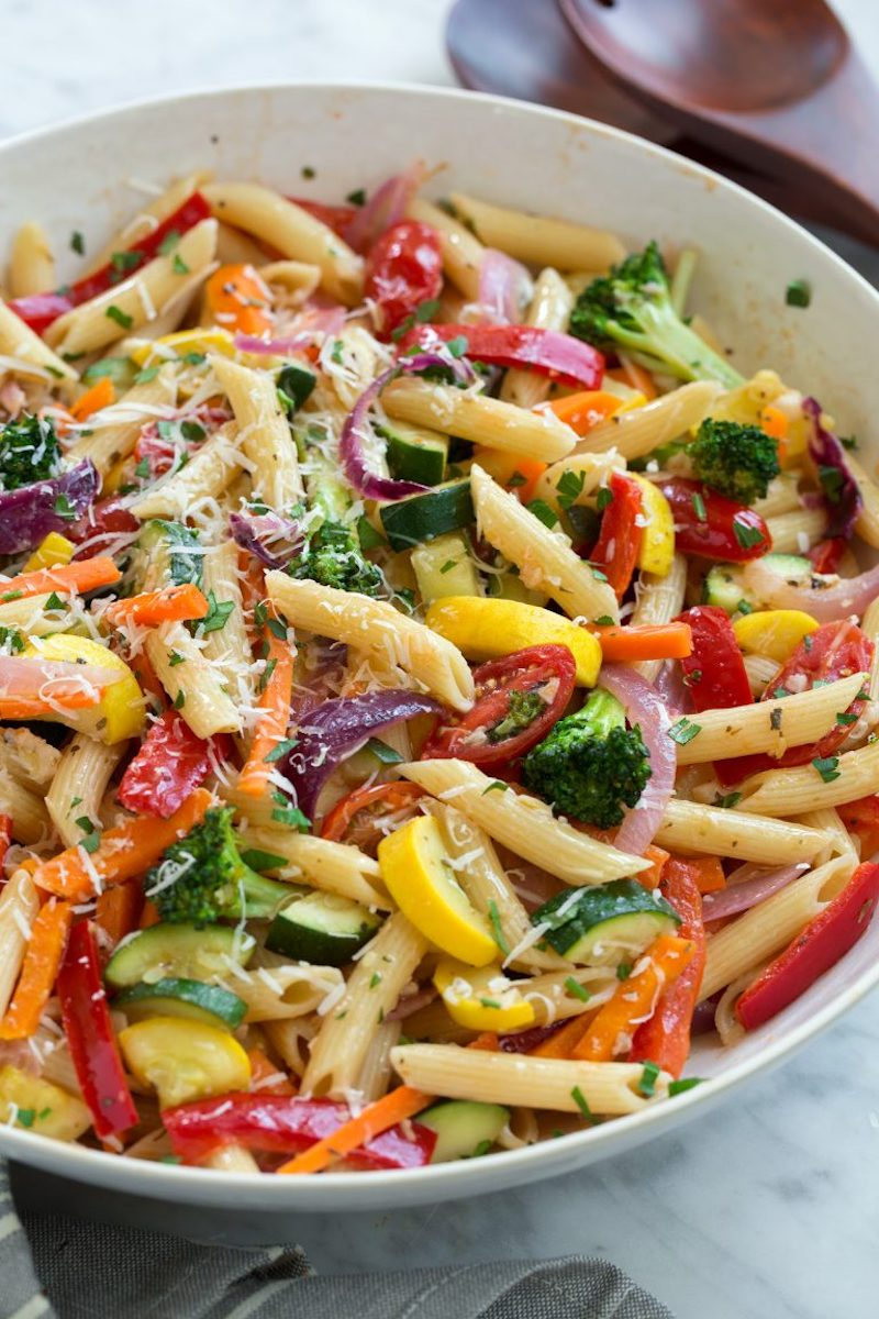 Weekly meal plan: Pasta Primavera at Cooking Classy