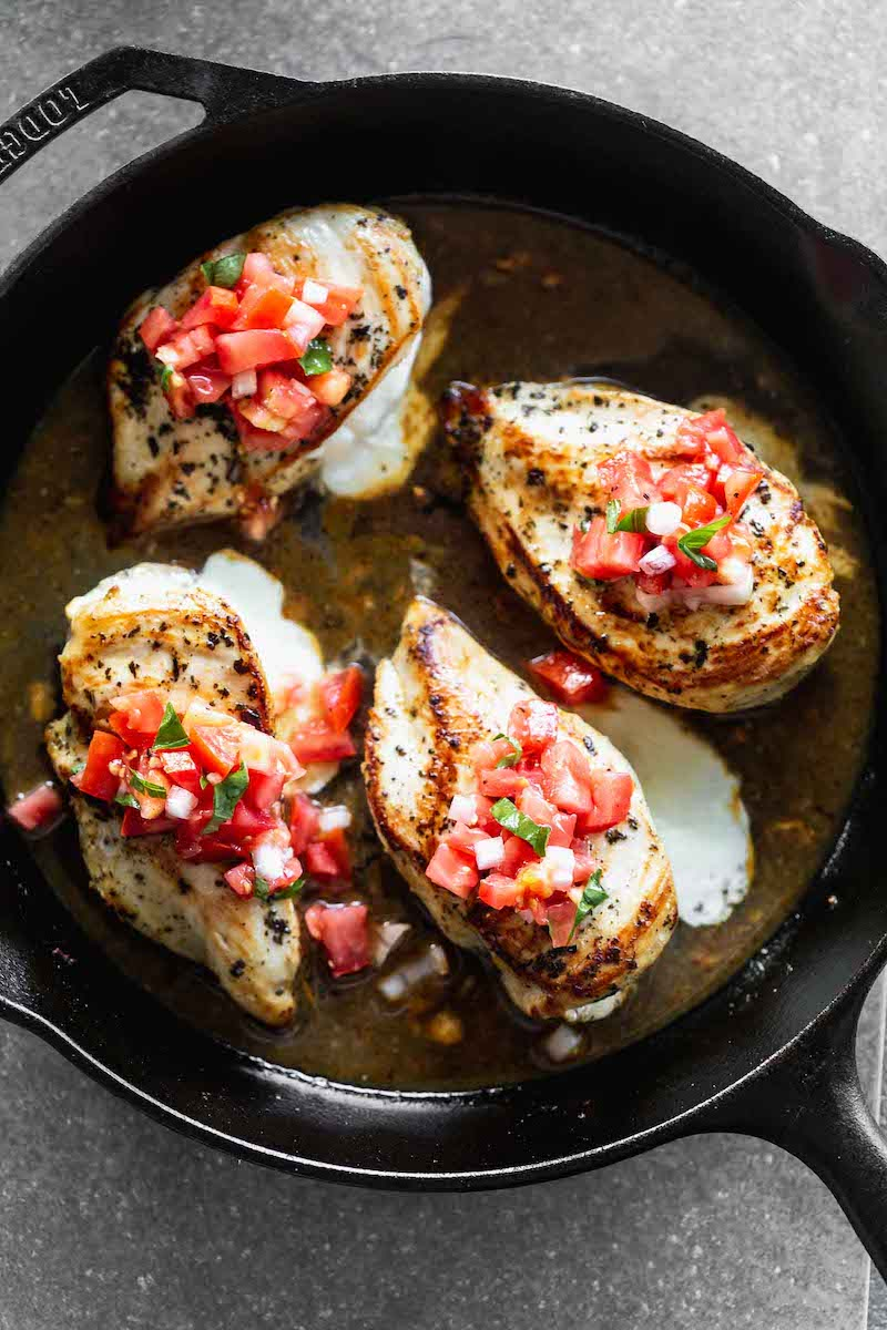 Weekly meal plan: Cheesy Lemon Chicken with Bruschetta at Cooking for Keeps
