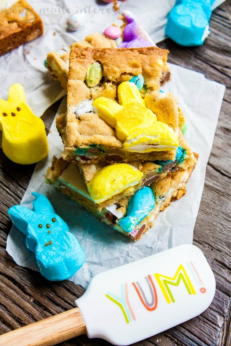 Weekly meal plan: Easter Candy Blondies at Homemade Interest
