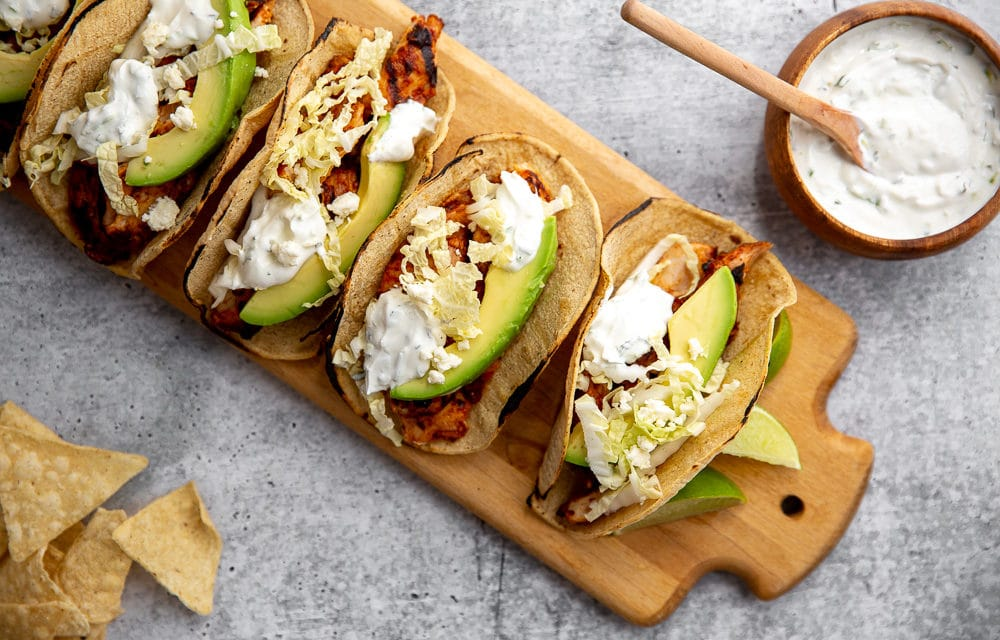 Lighter family dinner ideas for spring: Easy chipotle chicken tacos | From Scratch Fast