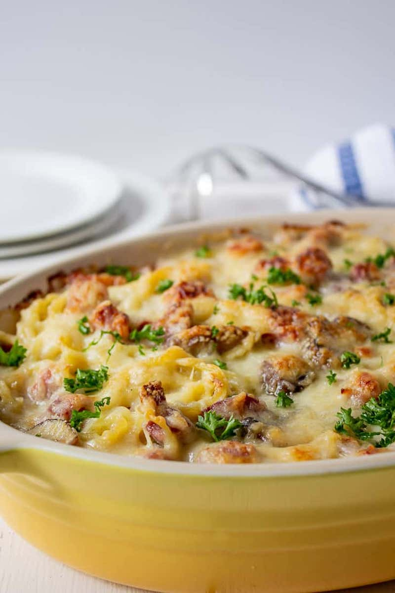 Weekly meal plan: Ham Tetrazzini at Beyond the Chicken Coop