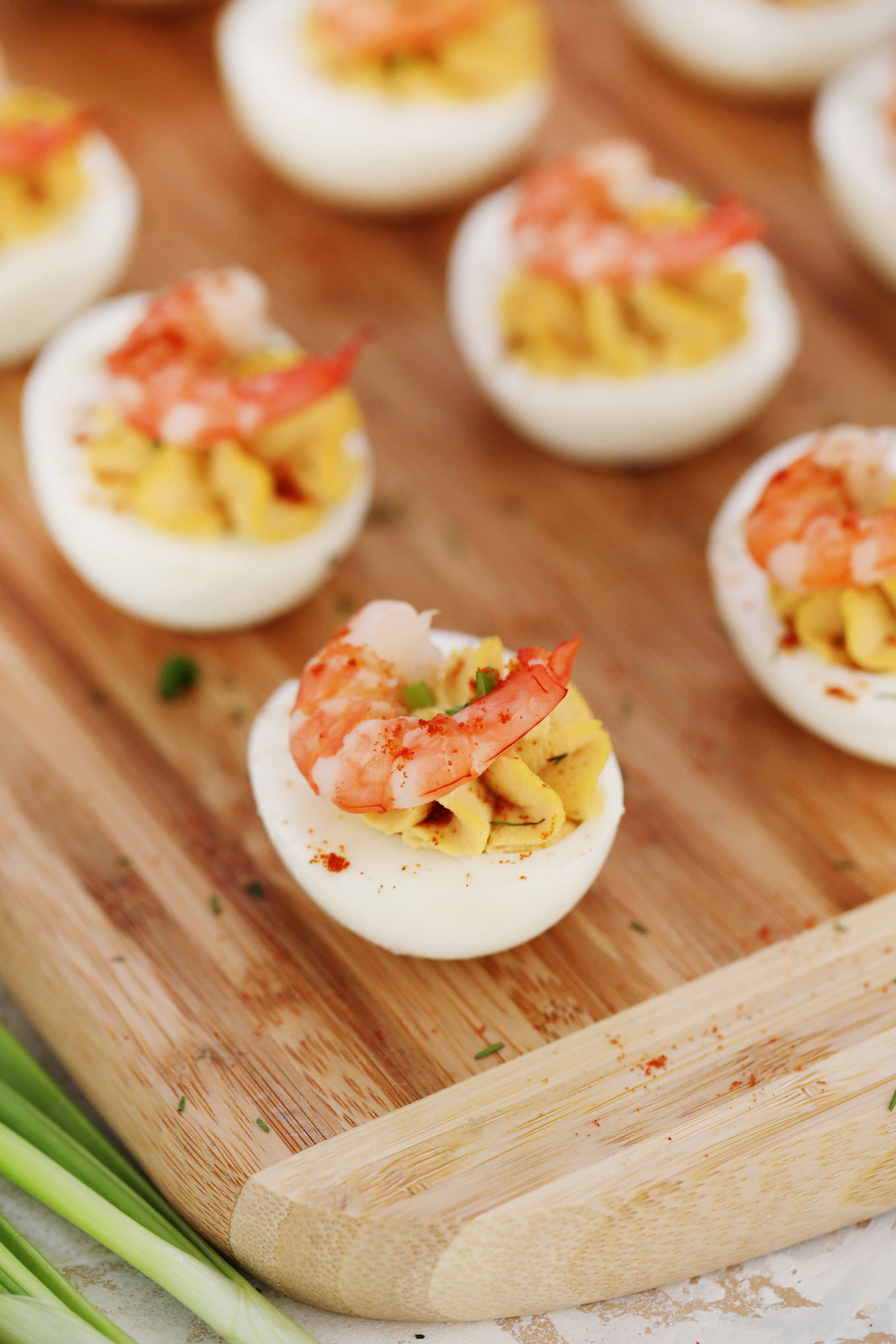 Make-ahead Easter brunch recipes: Deviled eggs with shrimp at Sweet & Savory