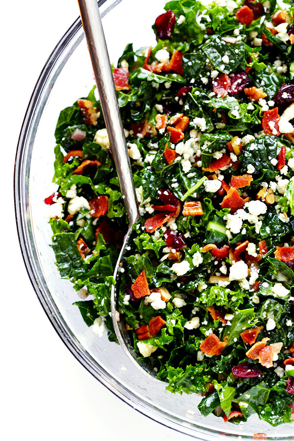 Make-ahead Easter brunch recipes: Kale salad with bacon and blue cheese | Gimme Some Oven
