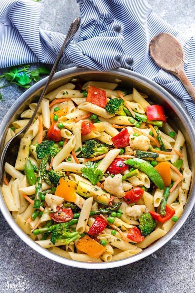 Weekly meal plan: Pasta Primavera at Life Made Sweeter