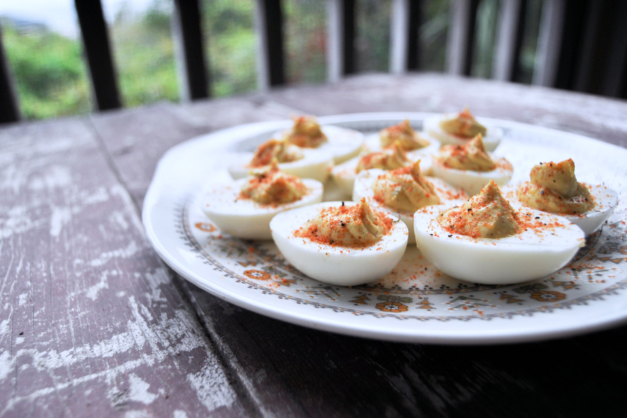 How to make easy deviled eggs. And if you mess them up? How to make easy deviled egg salad!