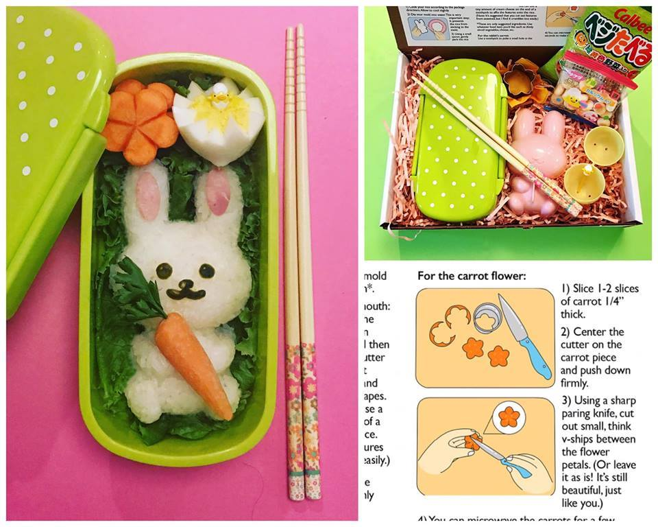 Easter bento kit by Marsha and Kiyomi Takeda-Morrison: everything you need except three ingredients! | coolmomeats.com
