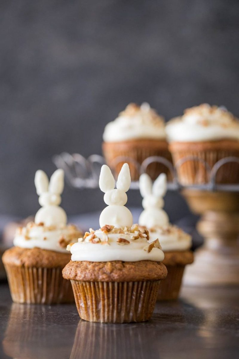 Easy Easter cupcake recipes: Carrot Cake with Cream Cheese Frosting at Lovely Little Kitchen