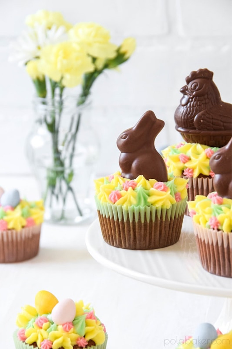 Easy Easter cupcake recipes: Carrot Cake cupcakes at Pola Baker