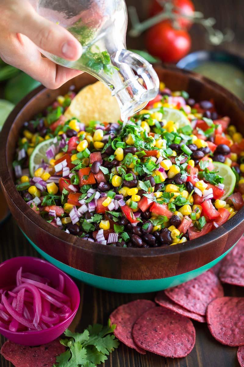 Weekly meal plan: Black Bean Salsa at Peas & Crayons
