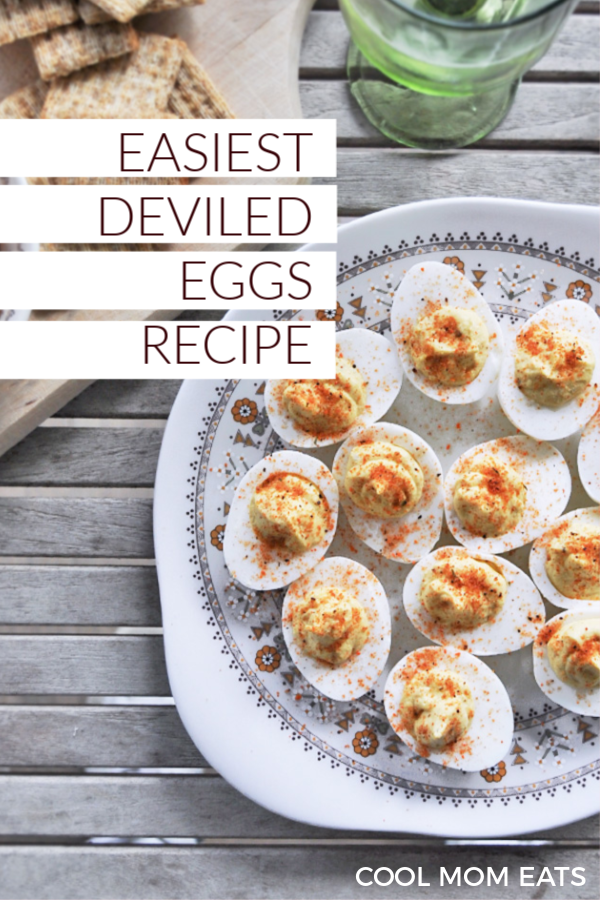 Easy Deviled Eggs recipe that's totally foolproof and delicious! | Anne Wolfe Postic for Cool Mom Eats