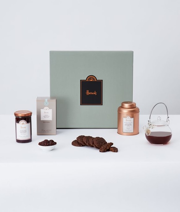 Mother's Day food gifts: The Harrod's Tea Gift Box for the fancy mom, grandma, or mother-in-law