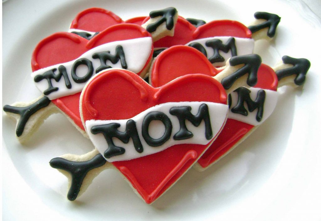 Mother's Day food gifts: Mom heart tattoo cookies from PF Confections