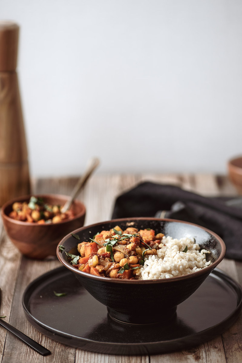 Weekly meal plan: Moroccan Chickpeas & Rice at Rise, Shine, Cook