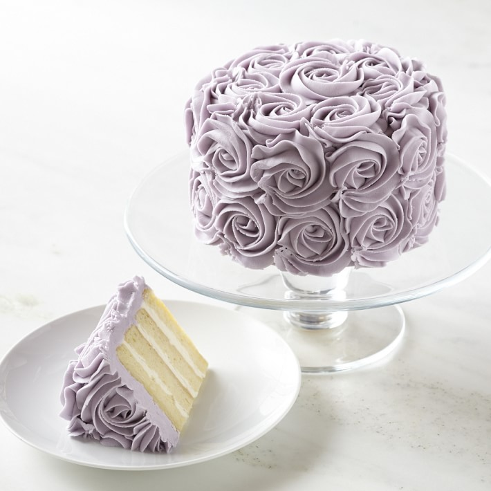 Mother's Day food gifts: The gorgeous lavender rose cake is perfect for a grandmother or mother-in-law