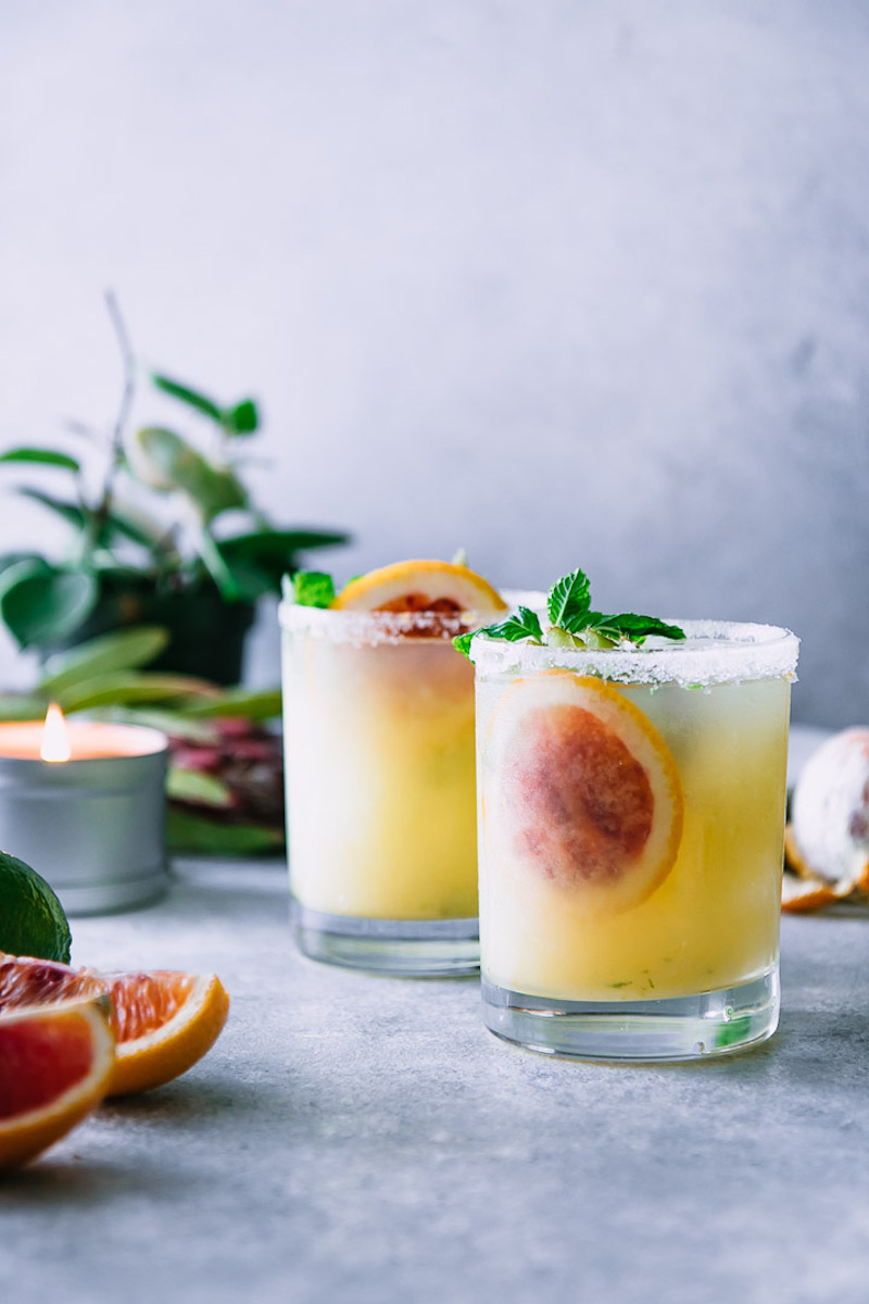 Tequila cocktail recipes: Blood Orange & Kiwi Margaritas at Fork in the Road