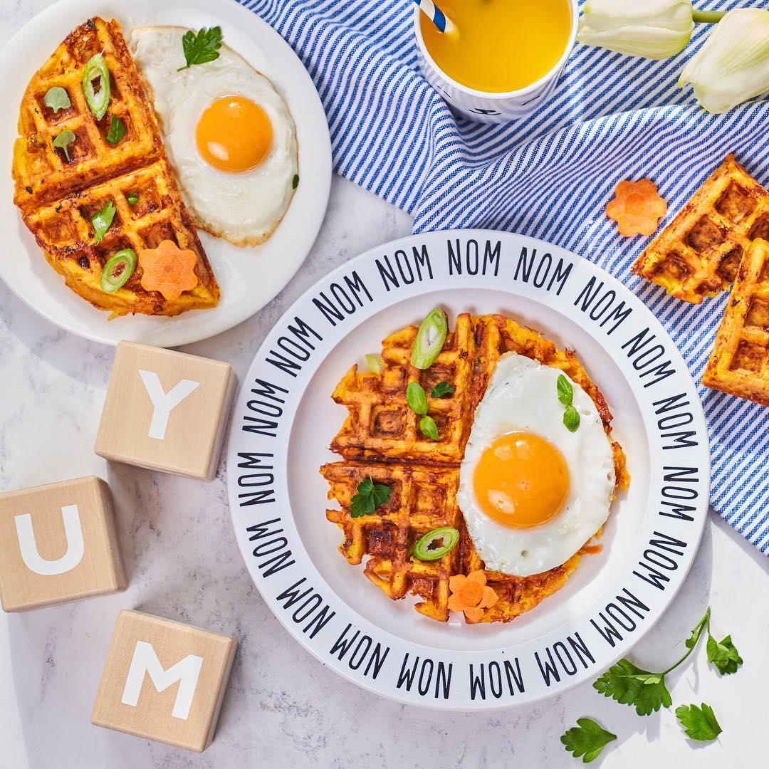 Weaning Waffles recipe for children 8mo + via Annabel Karmel