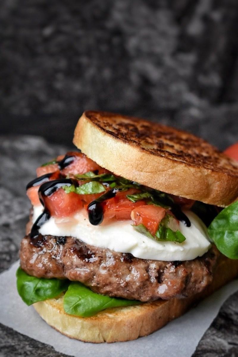 Weekly meal plan: Bruschetta Burgers at Dance Around the Kitchen