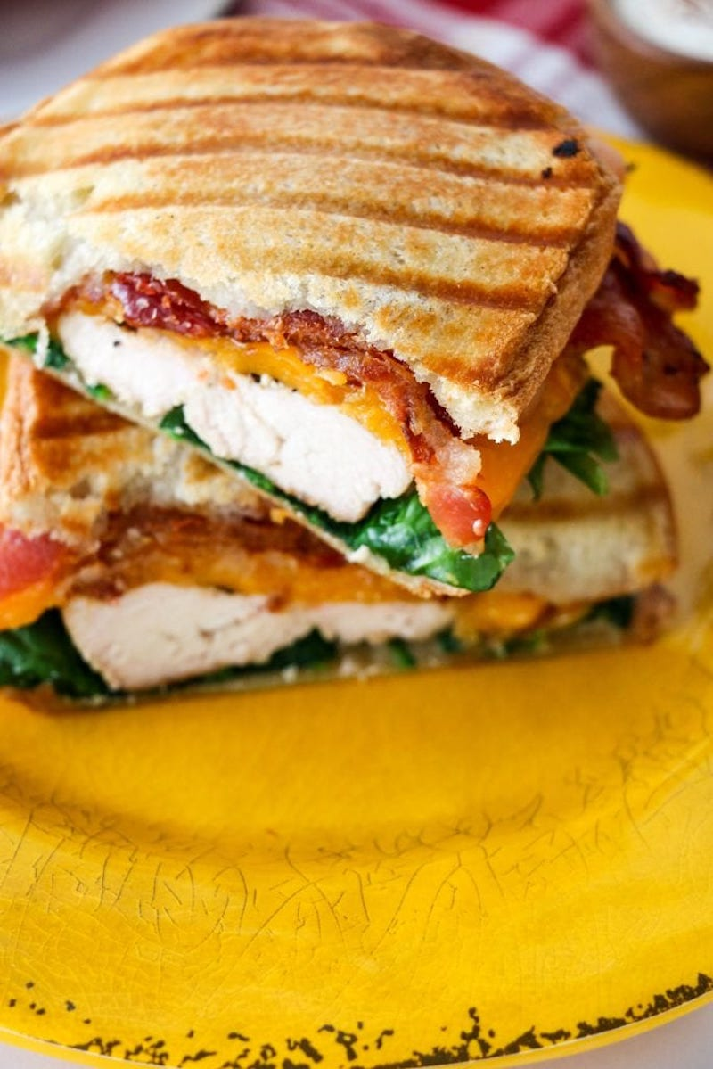 Weekly meal plan: Chicken Bacon Ranch Panini at Small Town Living
