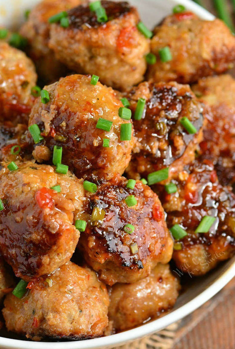 Weekly meal plan: Sweet Chili Turkey Meatballs at Will Cook for Smiles