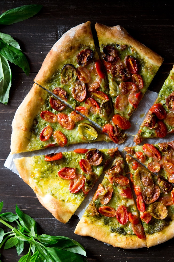 Weekly meal plan: Basil Pesto Pizza at Inside the Rustic Kitchen