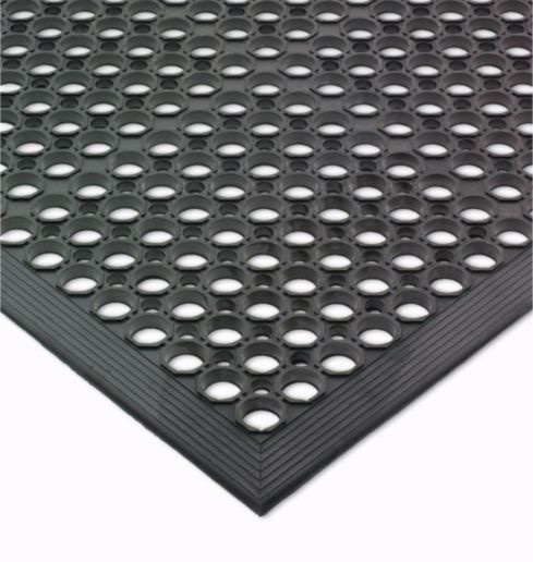 Best kitchen mats to relieve back pain: The professional kitchen mats from San Jamar in rubber can be found from restaurant supply stores