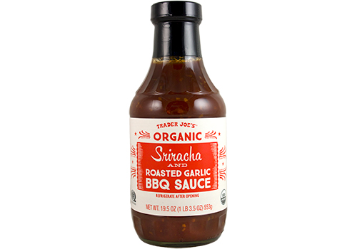 The best Trader Joe's products for Memorial Day: Sriracha and Roasted Garlic BBQ Sauce, with serving suggestions