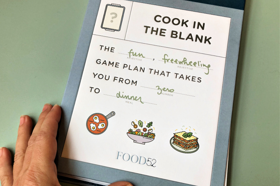 Cook in the Blank is like MadLibs meets practical cookbook…and it's genius