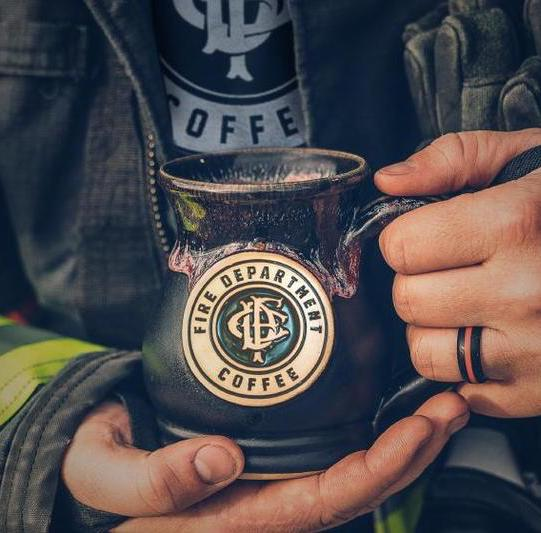 Gourmet gift boxes for Father's Day: Fire Department Coffee + Mug help support our nations firefighters and first responders