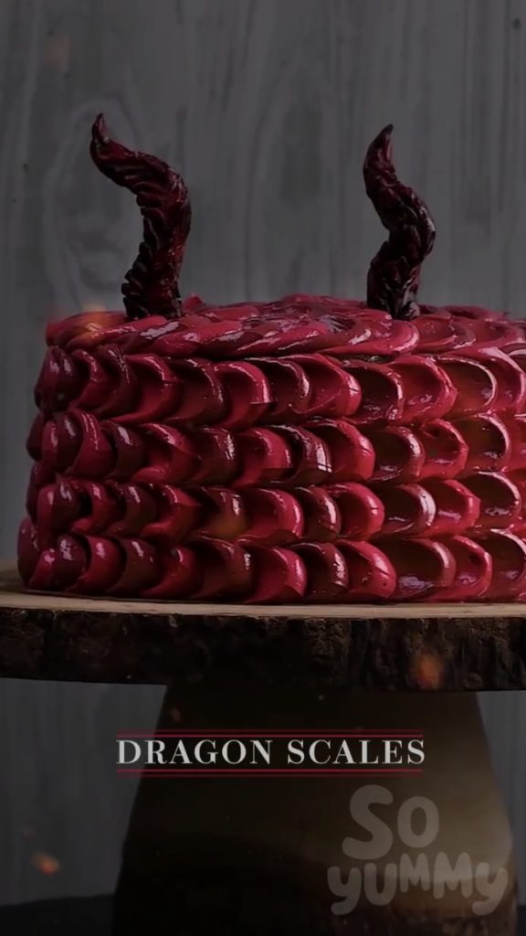 Game of Thrones Desserts: Dragon Cake video tutorial by So Yummy | More: Cool Mom Eats