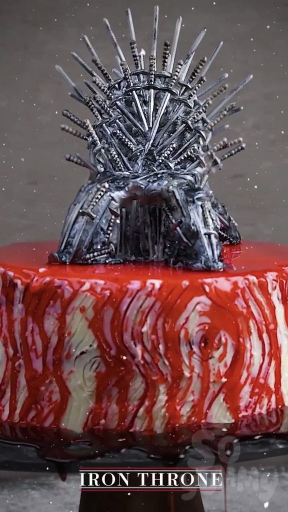 Game of Thrones Desserts: Iron Throne Cake video tutorial by So Yummy | More: Cool Mom Eats