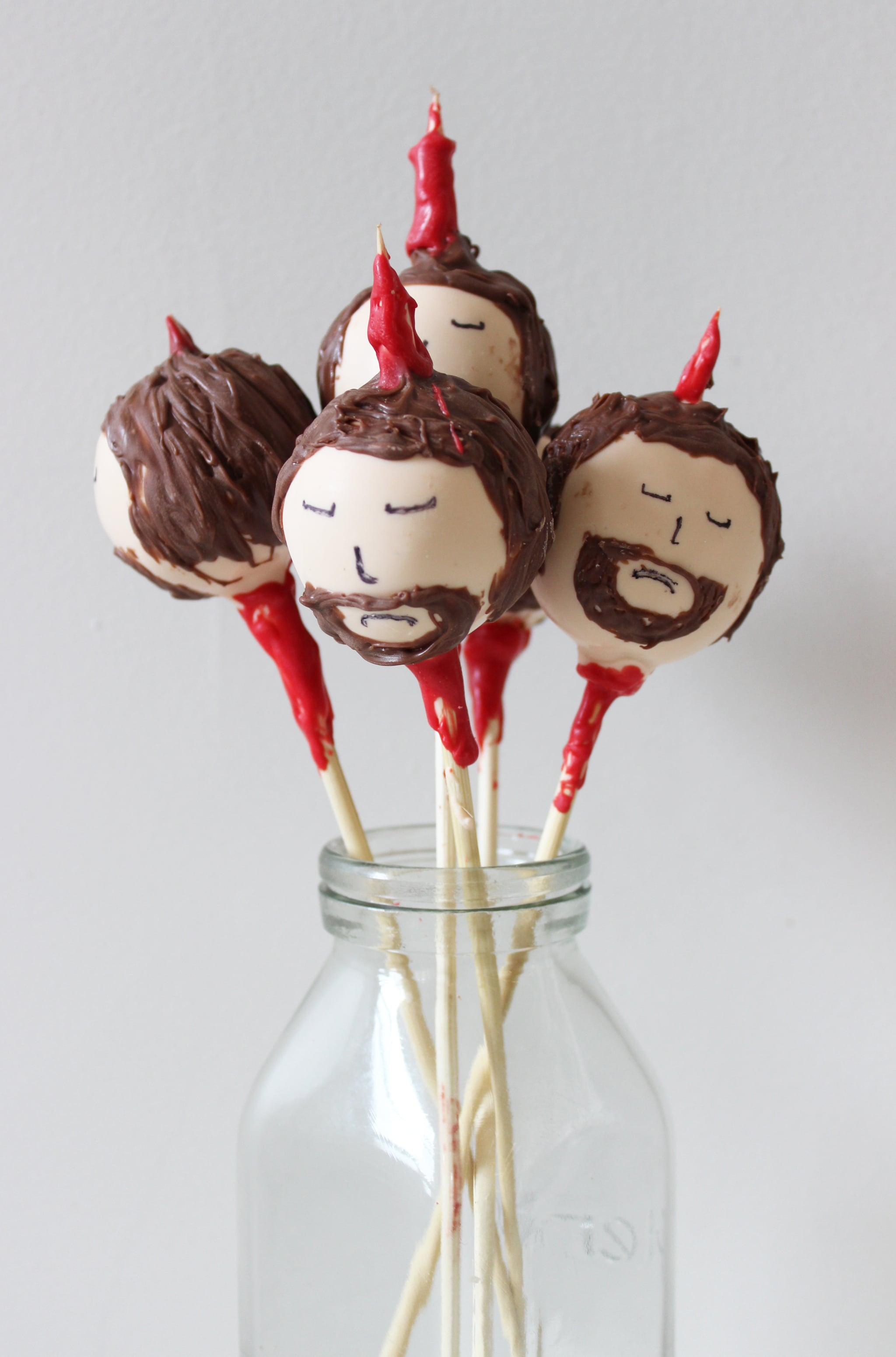 Game of Thrones Desserts: Ned Stark cake pops recipe from Pop Sugar | More at Cool Mom Eats