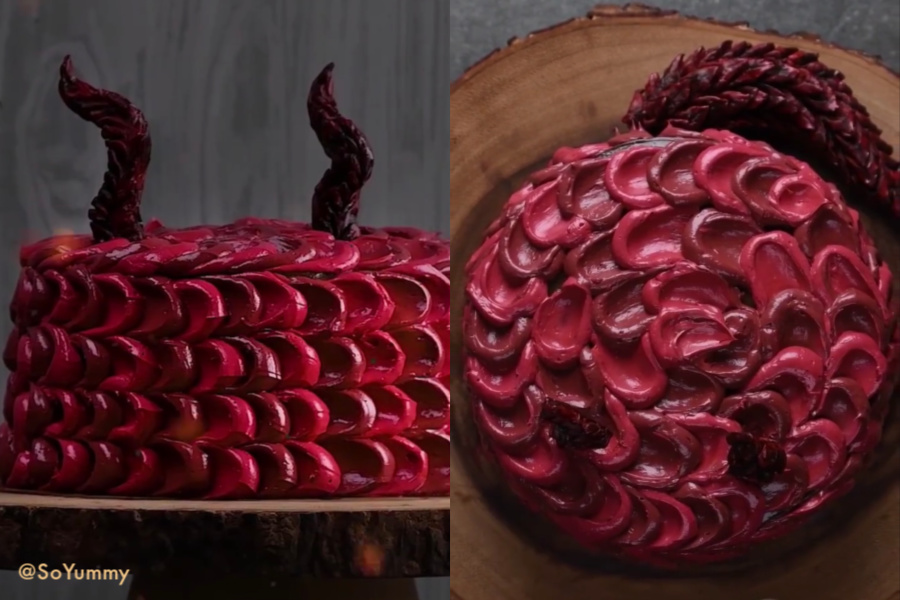 10 outrageous Game of Thrones dessert ideas including this dragon cake from SoYummy | More: coolmomeats.com