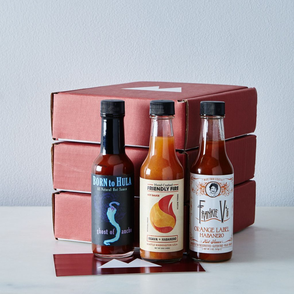 Gourmet gift boxes for dads: Artisanal hot sauce subscription at Food52