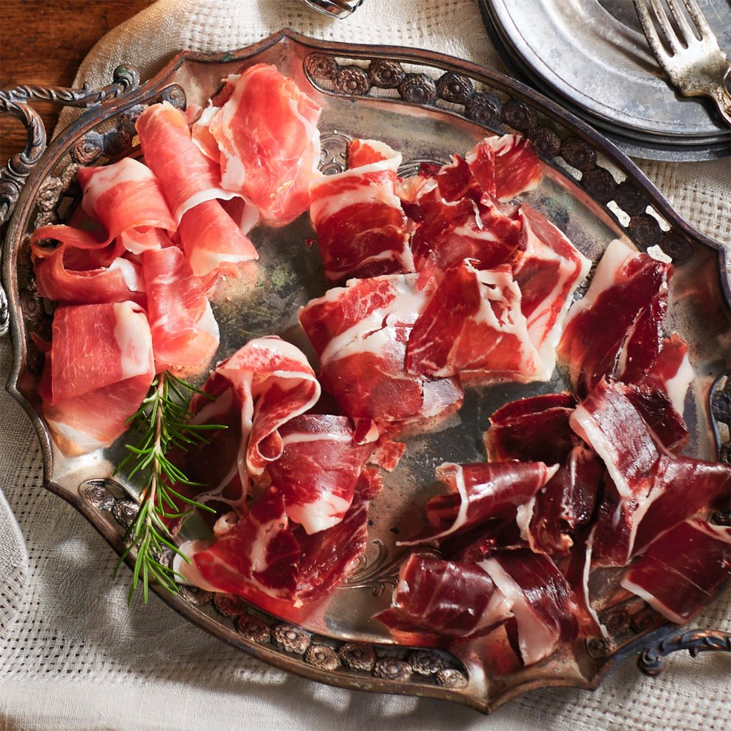 Gourmet gifts for dads on Father's Day: Sliced Spanish Jamon trip from La Tienda for the devoted carnivore