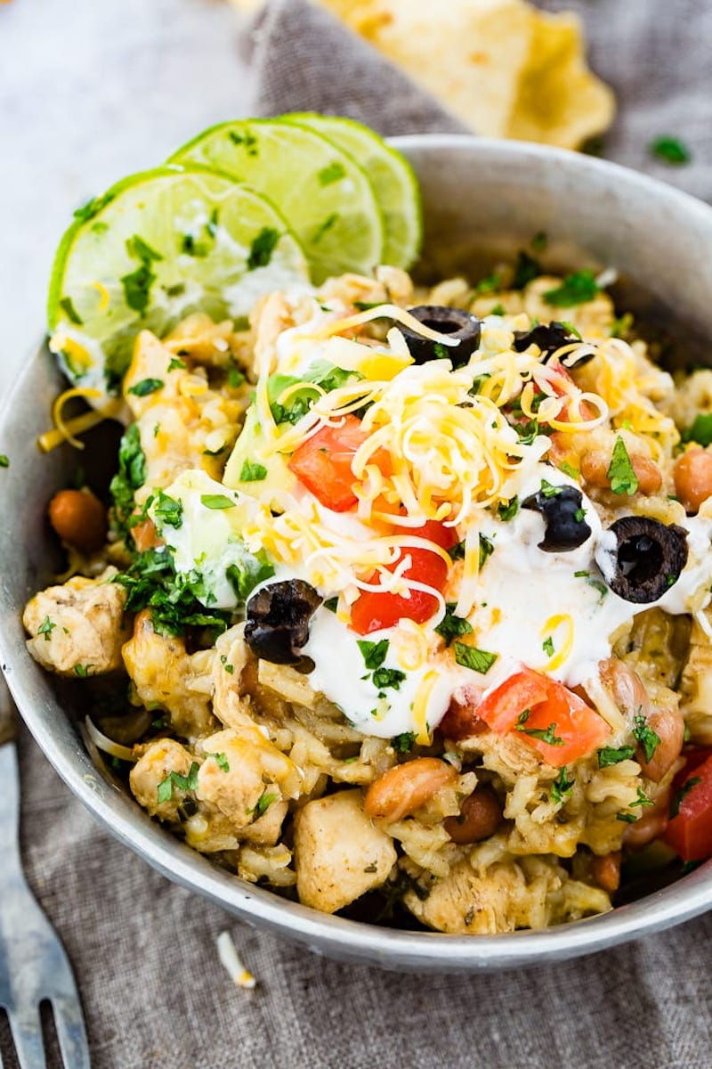 Weekly meal plan: Cilantro Lime Chicken Bowls at Oh Sweet Basil