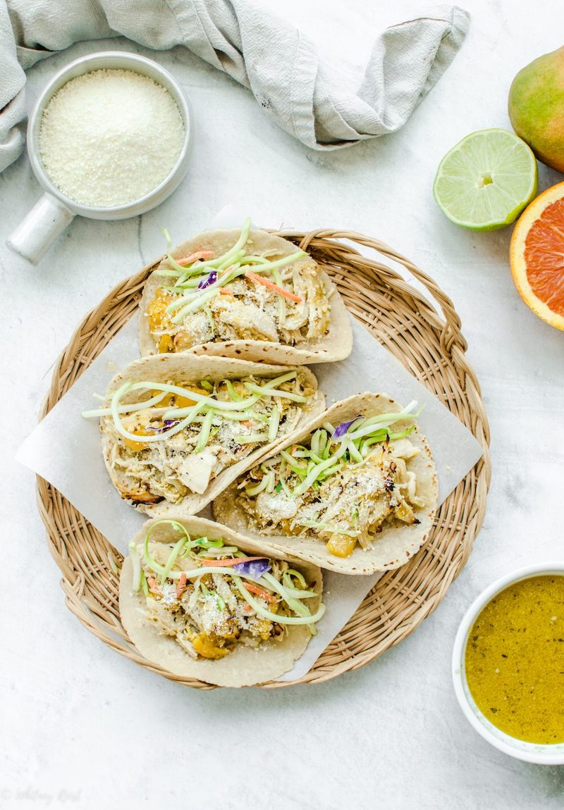 Weekly meal plan: Mango Mojo Chicken Tacos at Sweet Cayenne